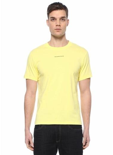 Sandro Sandro  Bisiklet Yaka Basic T-shirt 101632892 Sarı